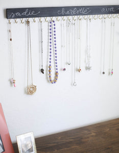 simple wood necklace organizer