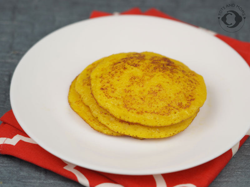 Spiced Carrot Dosa for Babies, Toddlers & Kids