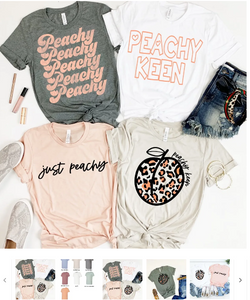 Just Peachy Tops for $14.99 (was $29.99) 1 day only.
