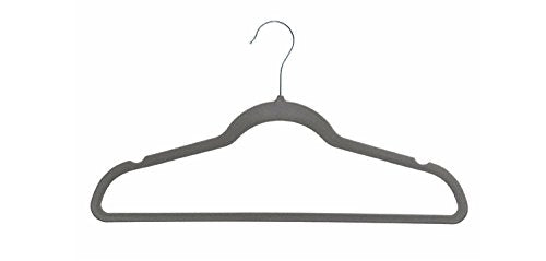 Concepts Grey Velvet Hanger 30 Pack Premium Quality for Coats, Jackets, Suits, Pants & Dresses