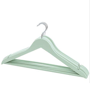 YAOBAO Wood Suit Hangers,for Shirts, Skirts, Pants, and Dresses,Non-Slipe, Slim Space Saving Design,20 Pack,Multicolor Selection,Green