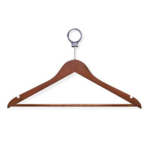 "Honey-Can-Do Wood Hotel Suit Hangers, 8 1/2""H x 1/2""W x 17 11/16""D, Cherry, Pack of 24"