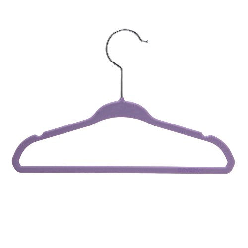BriaUSA Kids Baby Clothes Hangers Purple Steel Hooks –Ultra Slim, Sturdy Saves You Extra Space – Box of 20