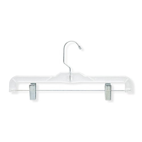Honey-Can-Do HNG-01436 Clear Skirt and Pant Hangers, 6-Pack