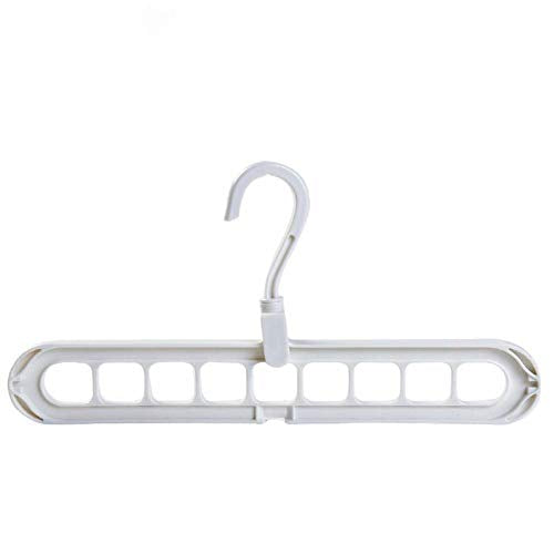 Ocamo Clothes Hanger Hook Multi-Function Clothes Drying Rack Storage Hanger for Wardrobe Outdoor Balcony White