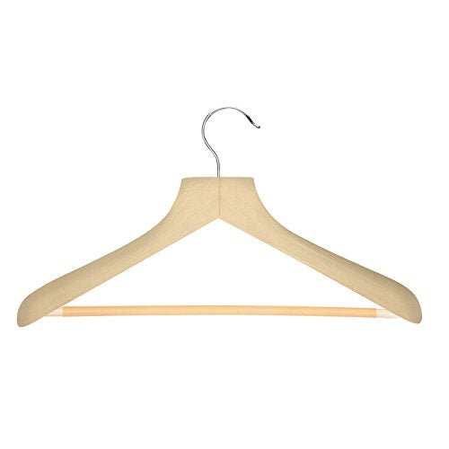 Honey-Can-Do HNG-01524 Curved Wood Suit Hanger, Ebony, 1-Pack