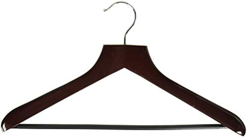 Honey-Can-Do HNGT01232 Deluxe Contoured Suit Hanger with Non-Slip Bar Cherry, 2-Pack
