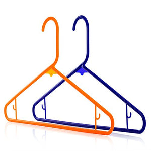 HANGERWORLD 40 Blue Orange 16inch Plastic All Purpose Coat Clothes Garment Pant Skirt Bar Hangers Loop Hooks