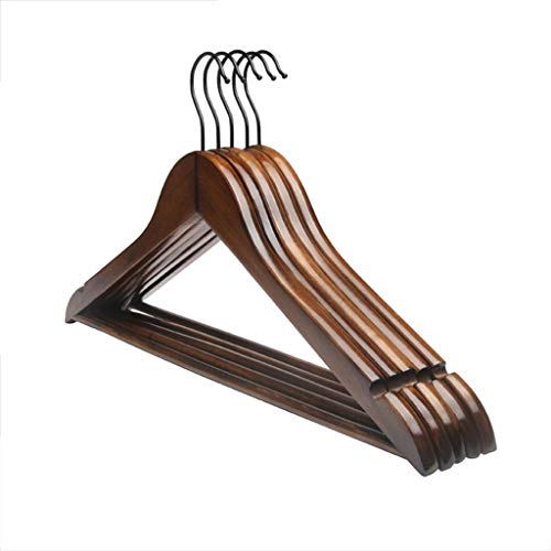 CGF-Drying Racks Hanger Solid Wood Pants Rack A Pack of 10 for Suit Skirt Jacket Size (45x26x1.2) cm