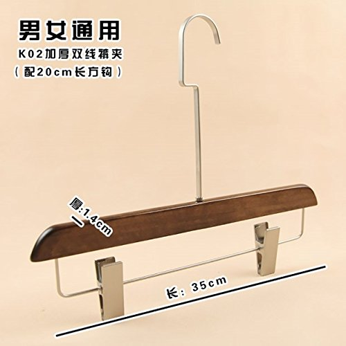 SHRCDC Natural Wood/Hanger 10Pack/Non-Slip(28-45Cm)/Flocking/Thickening/Widening/20Cm Long Hook/Adult Children/Shirt/Pants/Skirt/Suitable Hanger,10,35Cm