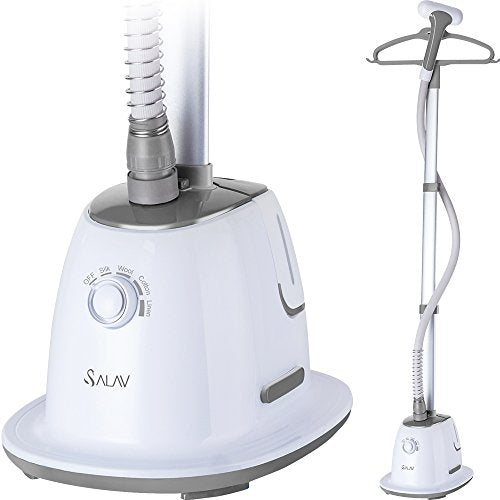 SALAV Professional Series GS60-BJ Wide Bar Garment Steamer with 360 Degrees Swivel Hanger, 1500 W, Gray