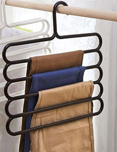 Guard 1Pcs Pants Hanger, Multi-Layer Pants Hanger Closet Organizer for Pants,Jeans,Scarves,Towels,Belts,Ties,Leggings Hanging,Wet Or Dry Use,Coffe Black