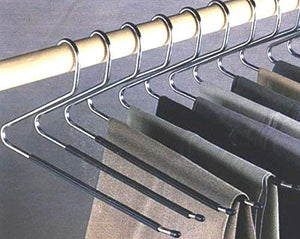 24 Jobar Slacks Hangers Open Ended Pants Easy Slide Organizers