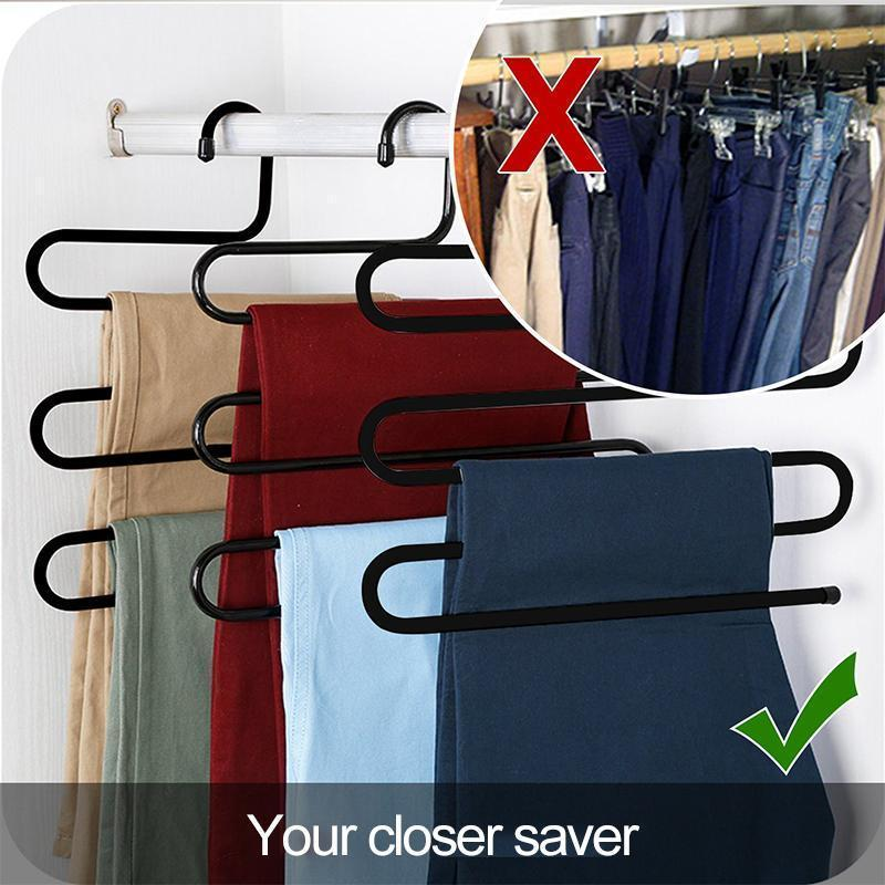 S-Shape Stainless Steel Clothes Hangers