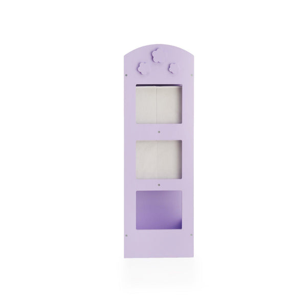 Amazon guidecraft see and store dress up center lavender pretend play storage closet with mirror shelves armoire for kids with bottom tray costume storage dresser