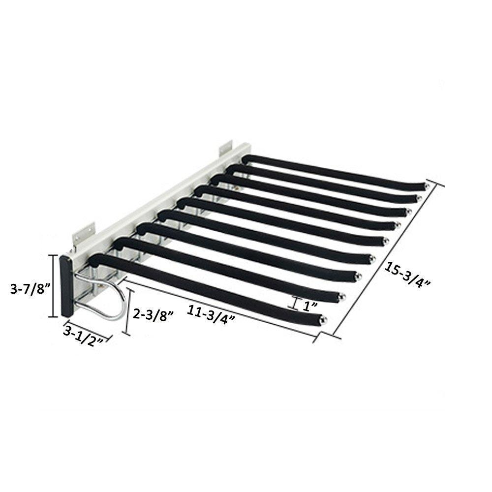 "Stainless Steel Trousers Rack 9 Arms,Closet Pants Hanger Bar for Clothes/ Towel/ Scarf / Trousers/ Tie, Organizers for Space Saving and Storage,18"" x 12-1/2"""
