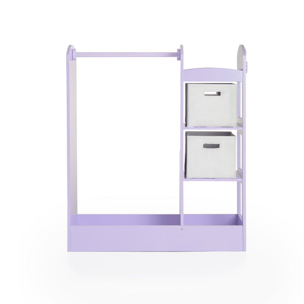 Amazon best guidecraft see and store dress up center lavender pretend play storage closet with mirror shelves armoire for kids with bottom tray costume storage dresser
