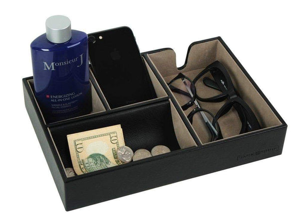 Select nice jackcube design valet tray multi leather desk or dresser organizer catch all for keys phone wallet coin jewelry and nightstandblack 10 6 x 7 2 x 1 9 inches mk233a
