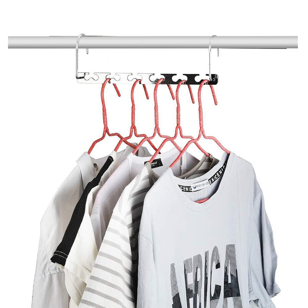 Closet Space Saving Hangers for Clothes Pants- 10.5 Inch Metal Wonder Hangers Stainless Steel Magic Cascading Hanger Updated Hook Design Closet Organizer Hanger