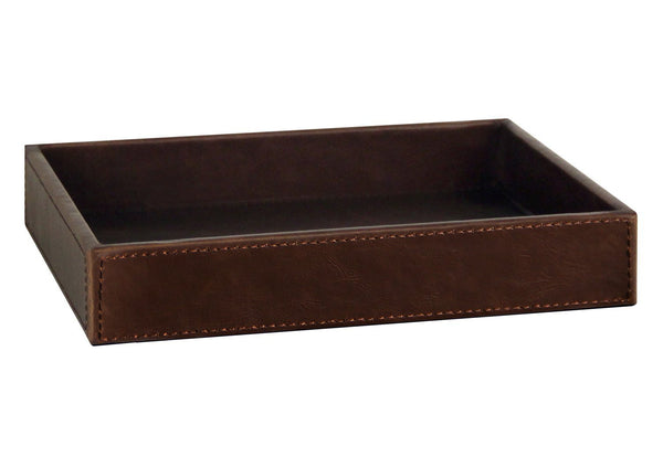 Budget ms box pu leather desktop storage organizer catchall tray valet tray nightstand or dresser organizer brown 10 2 x 8 4 x 1 8 inches
