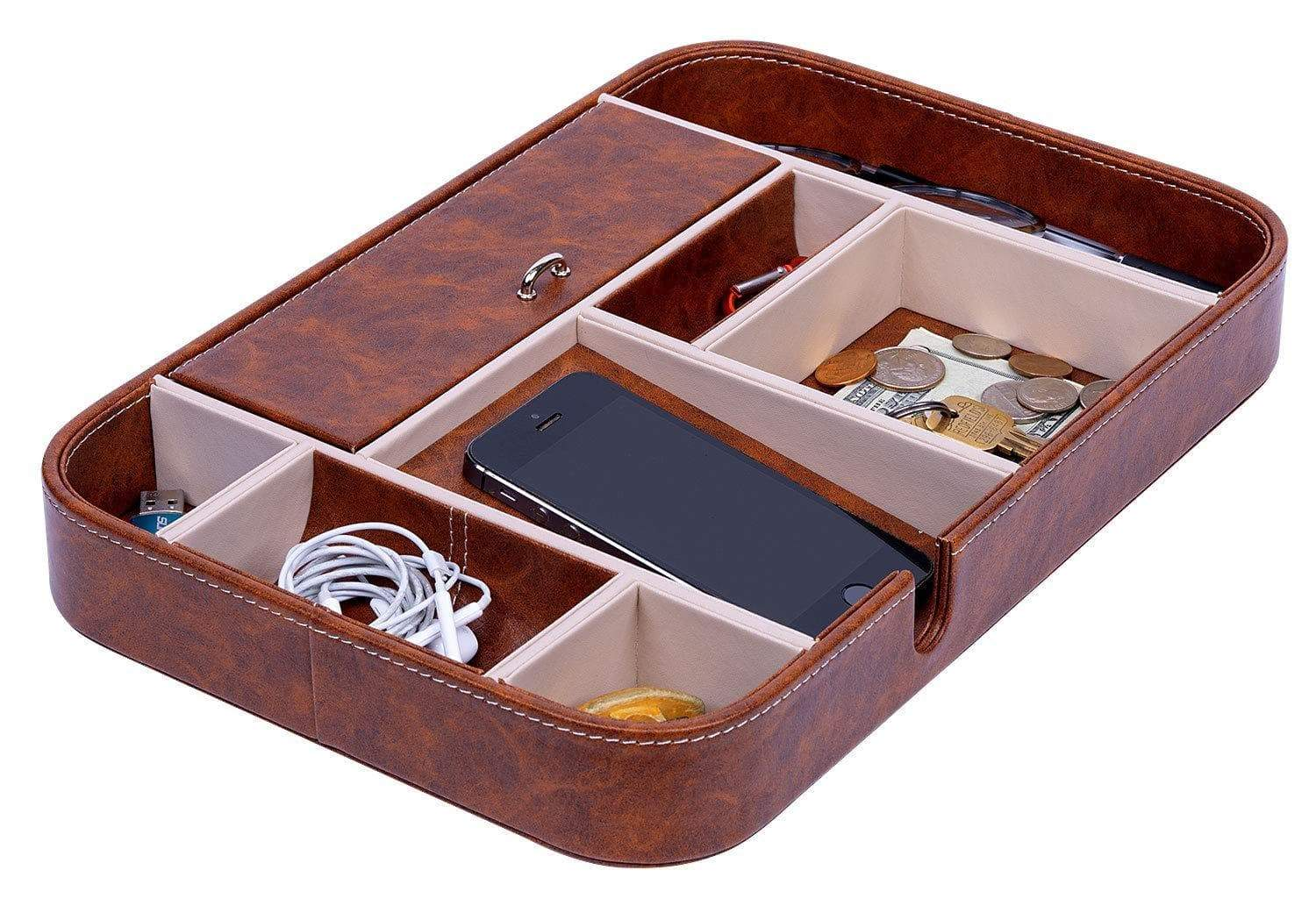New Makuzo Nightstand Organizer And Valet Tray For Men And