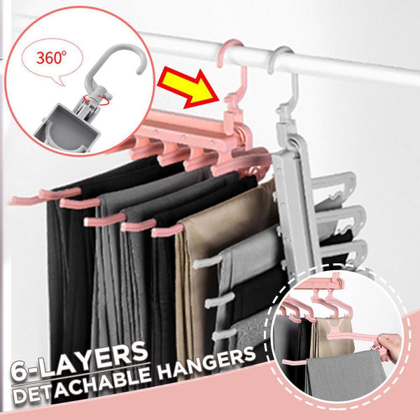 6-Layers Detachable Folding Pants Hanger