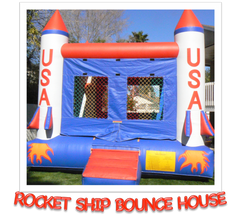 Rocket ship bounce house rental