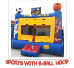 SPORTS WITH BASKETBALL HOOP BOUNCE HOUSE RENTAL