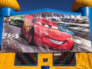 CARS BOUNCE HOUSE BANNER