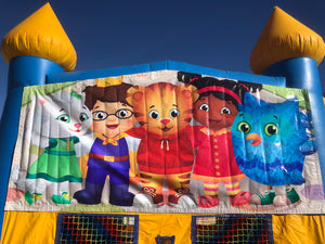DANIEL TIGER BOUNCE HOUSE BANNER