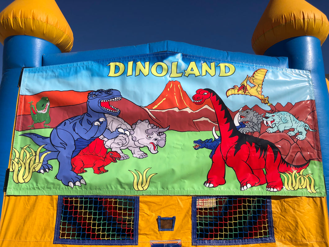 DINO LAND BOUNCE HOUSE BANNER
