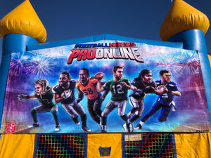 FOOTBALL HEROES BOUNCE HOUSE BANNER