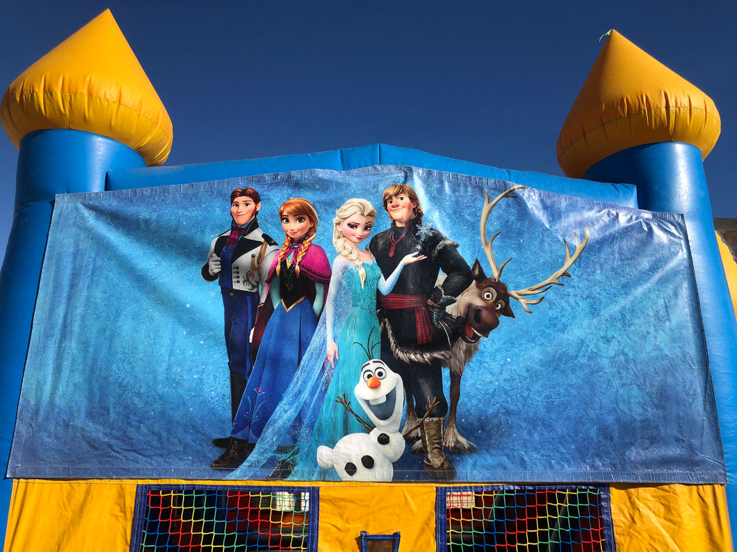 FROZEN BOUNCE HOUSE BANNER
