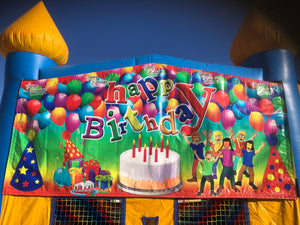 HAPPY BIRTHDAY BOUNCE HOUSE BANNER