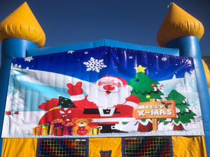 MERRY CHRISTMAS BOUNCE HOUSE BANNER