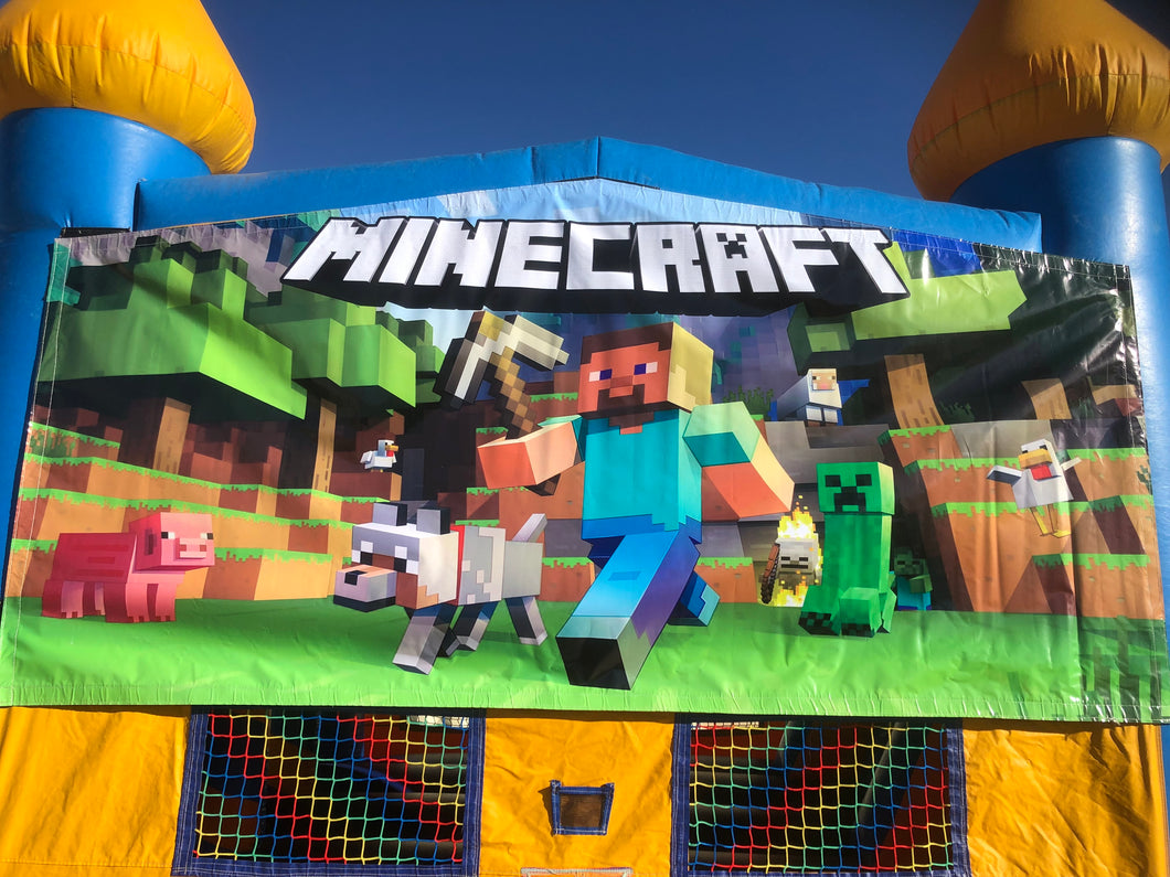 MINECRAFT BOUNCE HOUSE BANNER