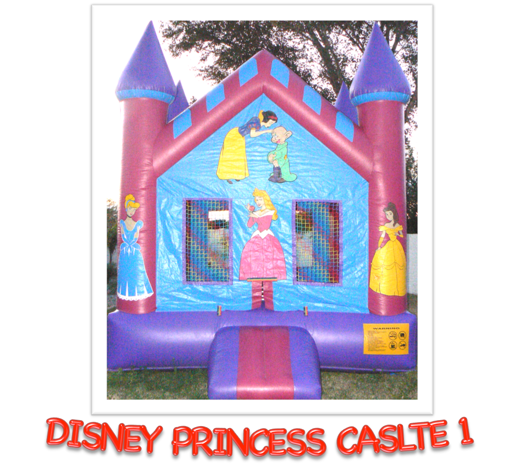 DISNEY PRINCESS CASLTE #1 BOUNCE HOUSE