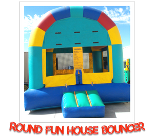 ROUND FUN HOUSE BOUNCER