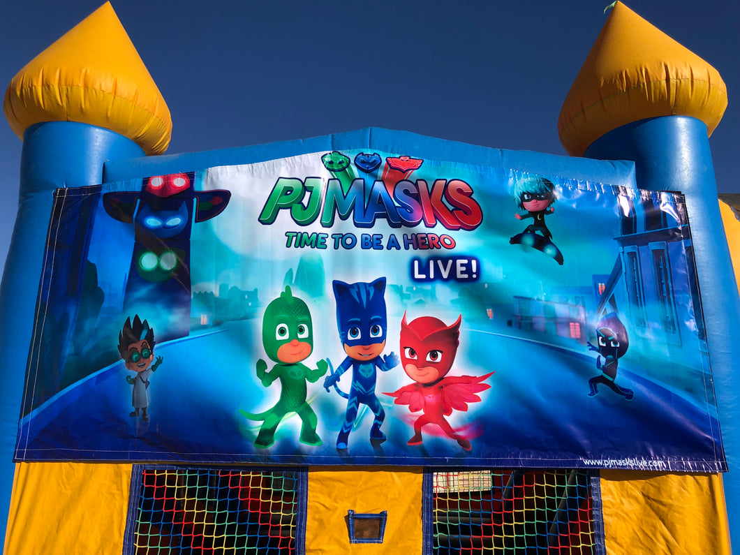 PJ MASKS BOUNCE HOUSE BANNER