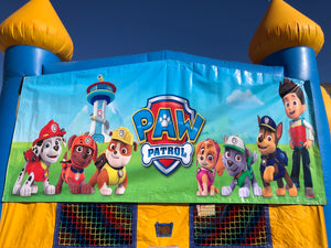 PAW PATROL BOUNCE HOUSE BANNER