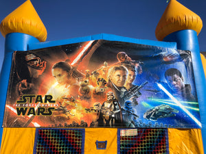 STAR WARS BOUNCE HOUSE BANNER