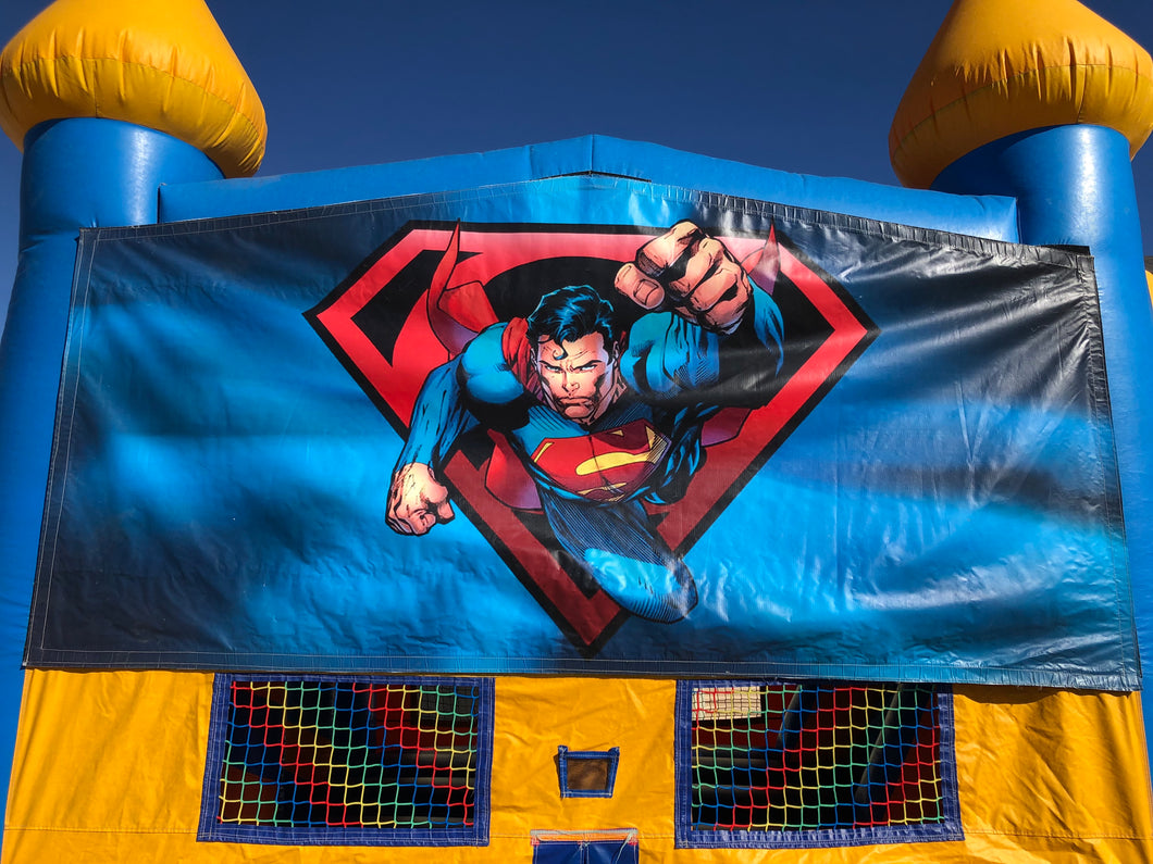 SUPERMAN BOUNCE HOUSE BANNER