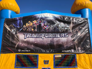 TRANSFORMERS BOUNCE HOUSE BANNER