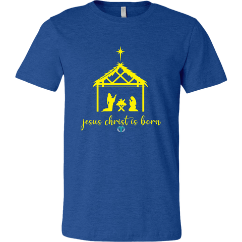 Men's Jesus is Born Shirt Online Christian Store
