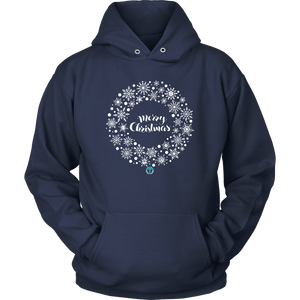 Christmas Wreath Hoodie - Online Christian Store