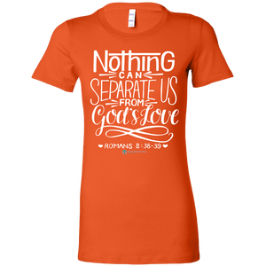 Women's Romans 8:38-39 T-Shirt - Online Christian Store