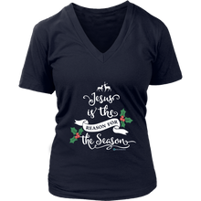 Load image into Gallery viewer, Women's Jesus is the Reason V-Neck - Online Christian Store