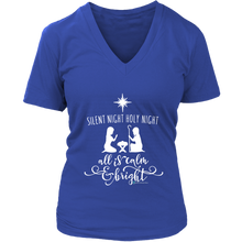 Load image into Gallery viewer, Women's Silent Night V-Neck
