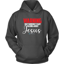 Load image into Gallery viewer, Men's Warning May Talk About Jesus - Online Christian Store