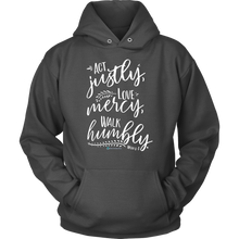 Load image into Gallery viewer, Micah 6:8 Hoodie - Online Christian Store